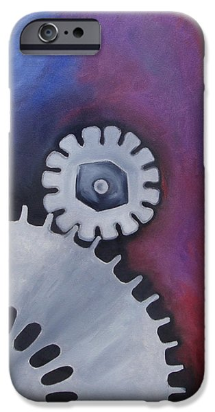 Mechanics Paintings iPhone Cases - Mechanics of the Mind - Dream iPhone Case by Aalia Rahman