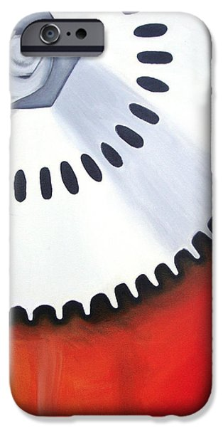 Mechanics Paintings iPhone Cases - Mechanics of the Mind - Idea iPhone Case by Aalia Rahman