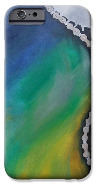 Mechanics Paintings iPhone Cases - Mechanics of the Mind - Thought iPhone Case by Aalia Rahman