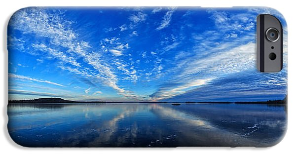 Winter iPhone Cases - Meddybemps Blues 2 Panorama iPhone Case by Bill Caldwell -        ABeautifulSky Photography