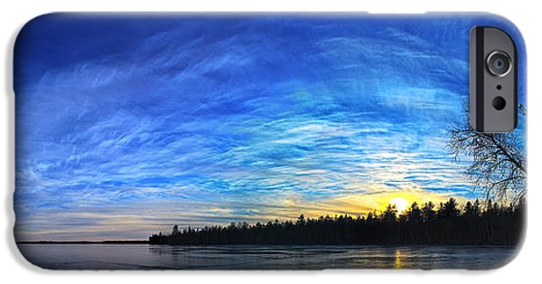 Snow Scene iPhone Cases - Meddybemps Cove 1 Panorama iPhone Case by Bill Caldwell -        ABeautifulSky Photography