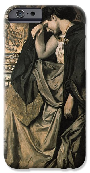 Sadness Paintings iPhone Cases - Medea iPhone Case by Anselm Feuerbach