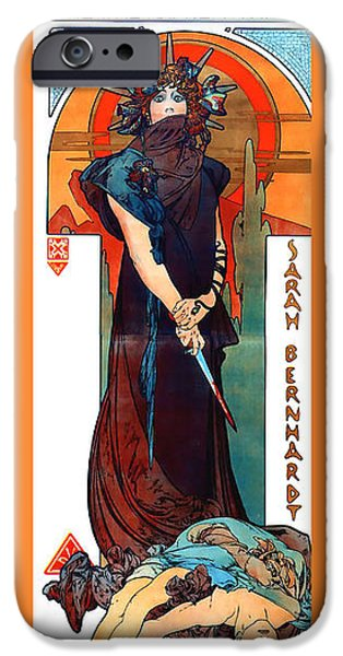 Medee iPhone Case by Alphonse Maria Mucha