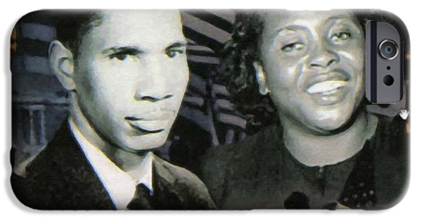 Abolition Paintings iPhone Cases - Medgar Evers and Fannie Lou Hamer iPhone Case by Lanjee Chee