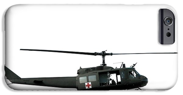 Ambulance iPhone Cases - Medic Helicopter iPhone Case by Olivier Le Queinec