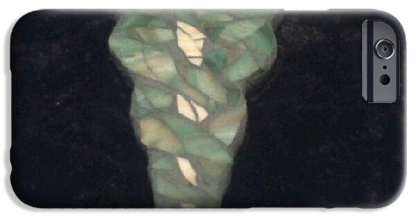 Medicine Glass Art iPhone Cases - Medical Caduceus  iPhone Case by Lisa Collinsworth
