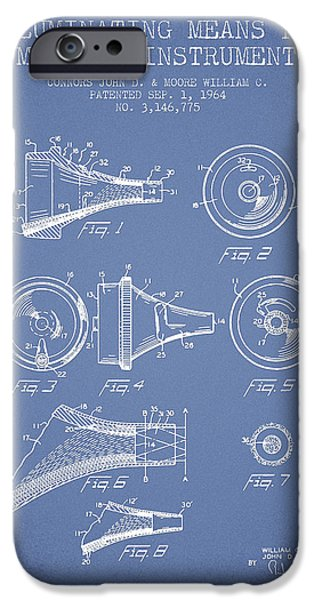 Hospital iPhone Cases - Medical Instrument Patent from 1964 - Light Blue iPhone Case by Aged Pixel