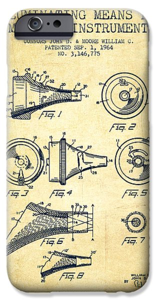 Medical Instrument iPhone Cases - Medical Instrument Patent from 1964 - Vintage iPhone Case by Aged Pixel