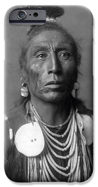 Crow Medicine iPhone Cases - Medicine Crow  1908 iPhone Case by Daniel Hagerman