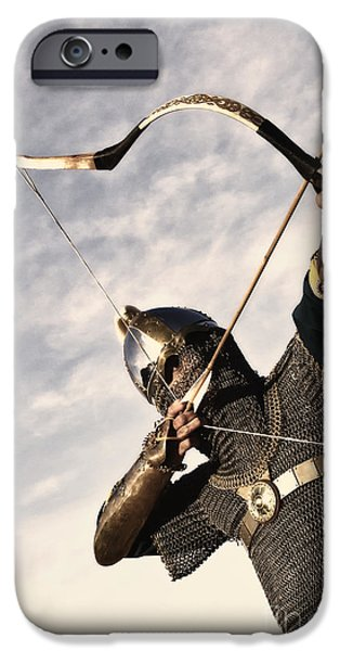 Armor iPhone Cases - Medieval Archer iPhone Case by Holly Martin