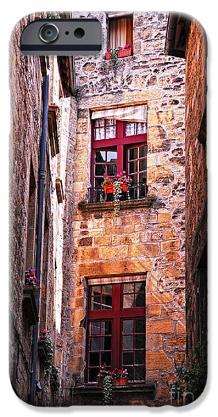 Yard iPhone Cases - Medieval architecture iPhone Case by Elena Elisseeva