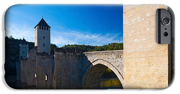Midi iPhone Cases - Medieval Bridge Across A River, Pont iPhone Case by Panoramic Images