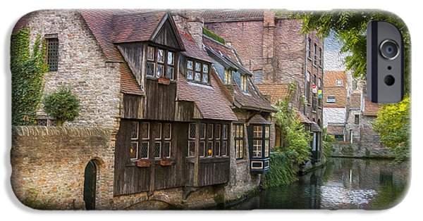 Historic Home iPhone Cases - Medieval Bruges iPhone Case by Juli Scalzi