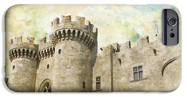 Byzantine iPhone Cases - Medieval City of Rhodes iPhone Case by Catf