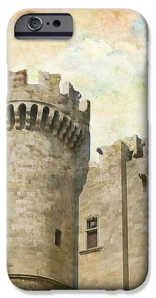 Medieval City of Rhodes iPhone Case by Catf