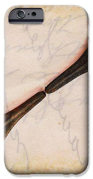 Fleur-de-Lis iPhone Case by Clare Bevan