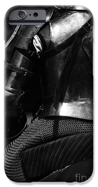 Knighthood iPhone Cases - Medieval Dark Knight iPhone Case by Bob Christopher