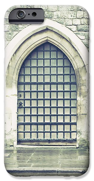 Rhodes iPhone Cases - Medieval door iPhone Case by Tom Gowanlock