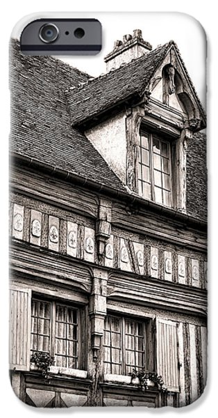 Facade iPhone Cases - Medieval House iPhone Case by Olivier Le Queinec