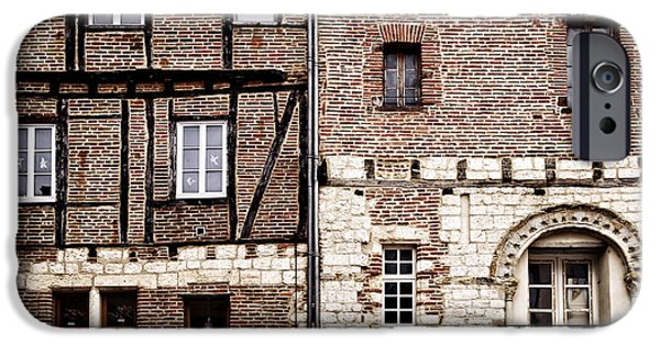 Facade iPhone Cases - Medieval houses in Albi France iPhone Case by Elena Elisseeva