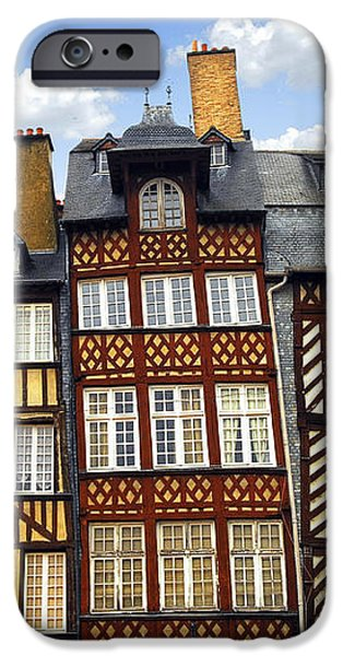 Medieval houses in Rennes iPhone Case by Elena Elisseeva