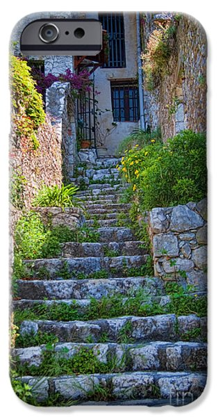 French Doors iPhone Cases - Medieval Saint Paul de Vence 1 iPhone Case by David Smith