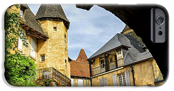 Culture iPhone Cases - Medieval Sarlat  iPhone Case by Elena Elisseeva