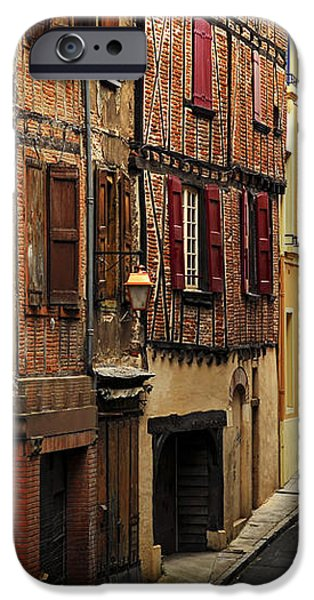 Medieval street in Albi France iPhone Case by Elena Elisseeva