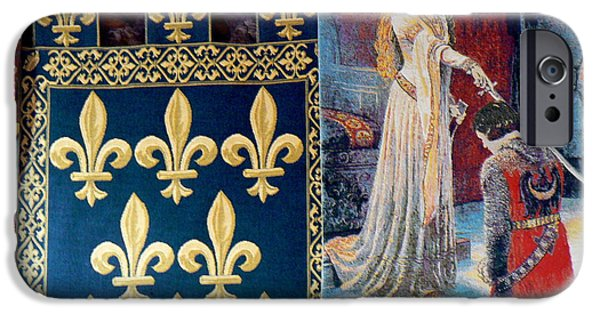 Cathar Country iPhone Cases - Medieval Tapestry iPhone Case by France  Art