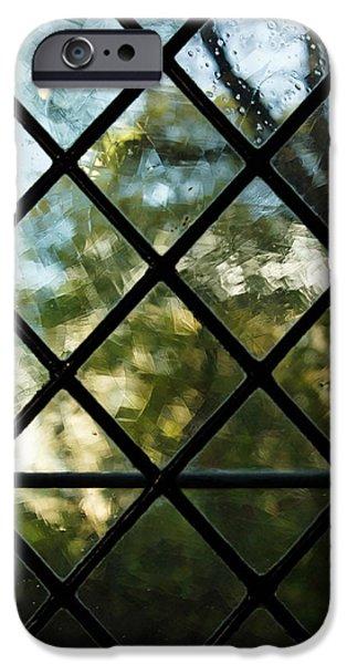 Seductive iPhone Cases - Medieval Window - Sunny Garden Outside iPhone Case by Georgia Mizuleva