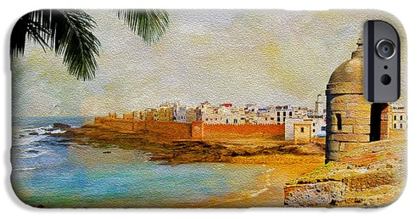 Historic Site Paintings iPhone Cases - Medina of Tetouan iPhone Case by Catf