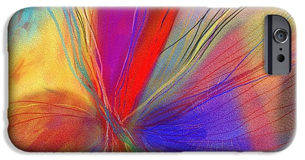 Abstract Digital Art Drawings iPhone Cases - Meditate iPhone Case by Julie Richman