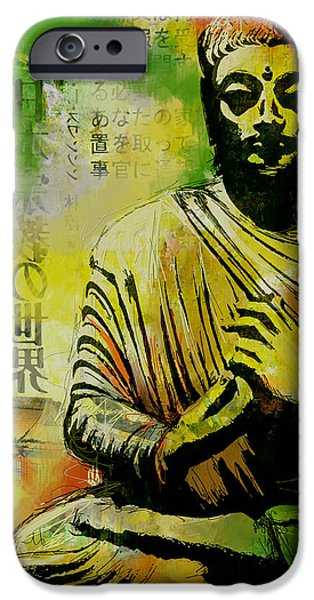Corporate Art iPhone Cases - Meditating Buddha iPhone Case by Corporate Art Task Force