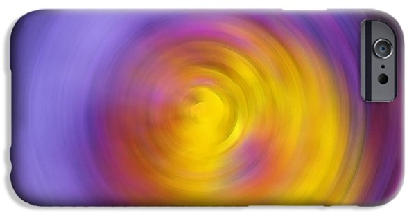 Purple Prints iPhone Cases - Meditation - Abstract Energy Art By Sharon Cummings iPhone Case by Sharon Cummings