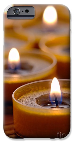 Meditation Candles Path iPhone Case by Olivier Le Queinec