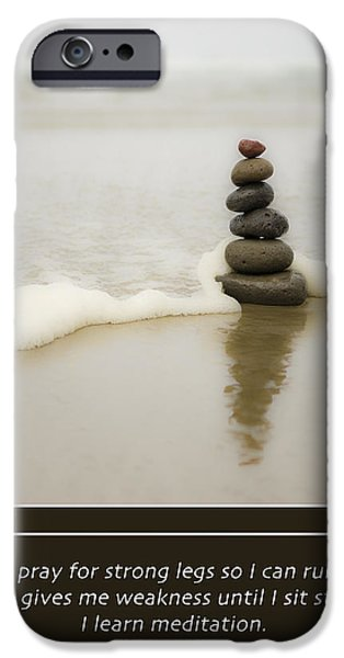 I Ask iPhone Cases - Meditation iPhone Case by Lori Grimmett