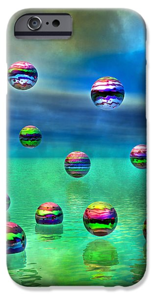 Meditative Pool iPhone Case by Betsy A  Cutler