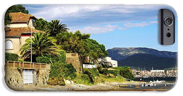 Posh iPhone Cases - Mediterranean coast of French Riviera iPhone Case by Elena Elisseeva