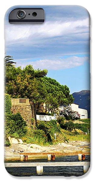 Mediterranean coast of French Riviera iPhone Case by Elena Elisseeva