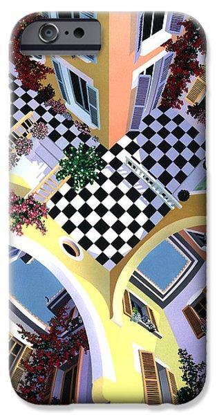 David iPhone Cases - Mediterranean Illusion iPhone Case by David Holmes