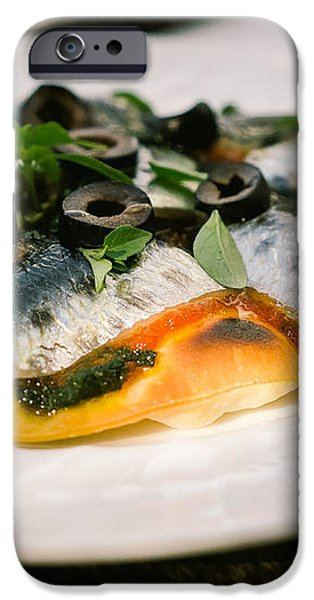 Mediterranean Sardine Pizza iPhone Case by Dean Harte