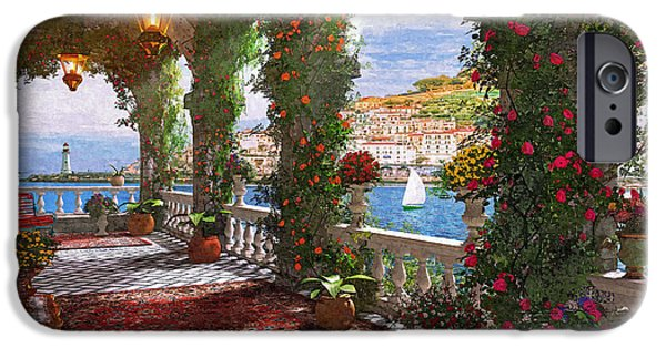 Terraces iPhone Cases - Mediterranean Verander iPhone Case by Dominic Davison