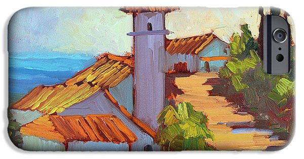 Old Village iPhone Cases - Mediterranean Village Costa Del Sol iPhone Case by Diane McClary