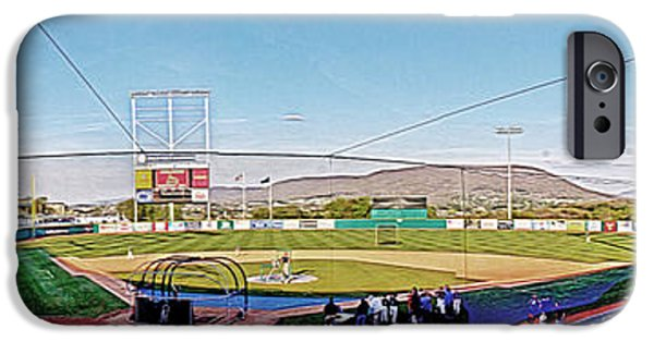 Baseball Stadiums iPhone Cases - Medlar Field at Lubrano Park iPhone Case by Tom Gari Gallery-Three-Photography