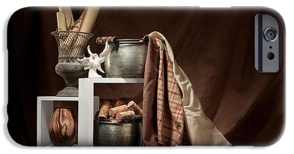 Antiques iPhone Cases - Medley of Textures Still Life iPhone Case by Tom Mc Nemar