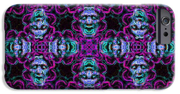 Medusa iPhone Cases - Medusa Abstract 20130131m180 iPhone Case by Wingsdomain Art and Photography