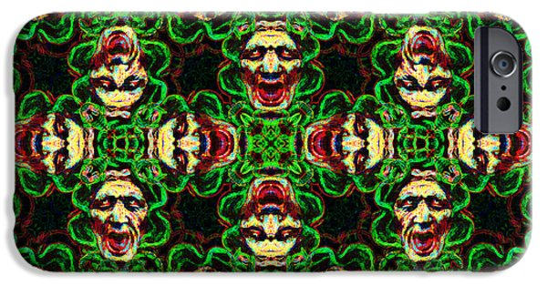 Medusa iPhone Cases - Medusa Abstract 20130131p0 iPhone Case by Wingsdomain Art and Photography