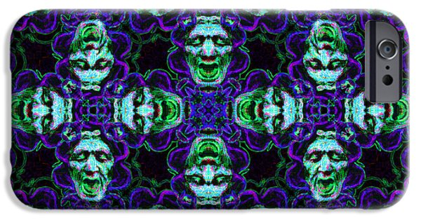 Medusa iPhone Cases - Medusa Abstract 20130131p138 iPhone Case by Wingsdomain Art and Photography