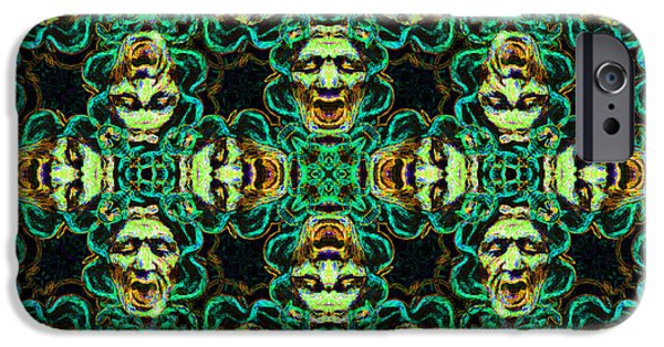 Medusa iPhone Cases - Medusa Abstract 20130131p38 iPhone Case by Wingsdomain Art and Photography