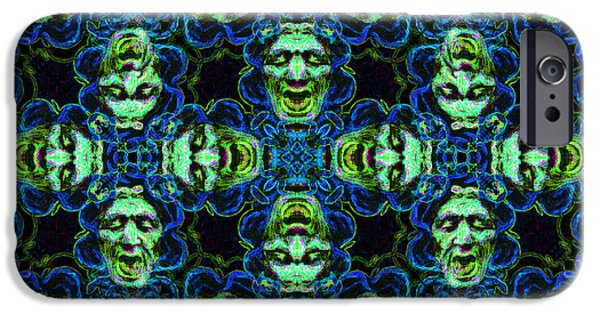 Medusa iPhone Cases - Medusa Abstract 20130131p90 iPhone Case by Wingsdomain Art and Photography